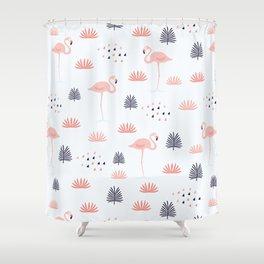 Minimal Flamingo Shower Curtain