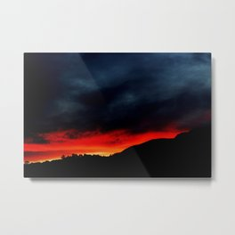 Australian Sunset in Summer Metal Print