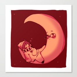 Pierrot and the Moon Canvas Print