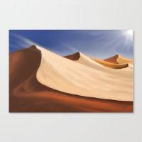 desert Canvas Prints featuring Desert by Turul