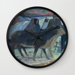Christmas Night, The Blessing of the Oxen, Gauguin Wall Clock