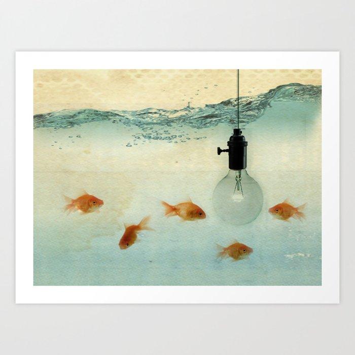 Fishing for ideas Art Print
