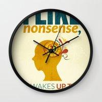 dr seuss Wall Clocks featuring Dr. Seuss by Kongoriver