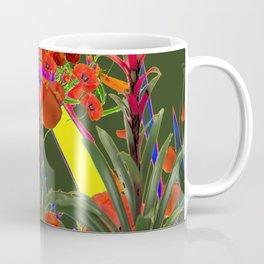MODERN  ORIENTAL STYLE FLOWERS GREEN GARDEN DESIGN Coffee Mug