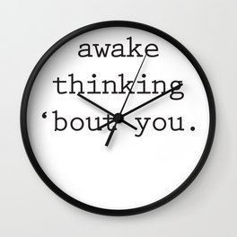 Wide Awake Print Wall Clock