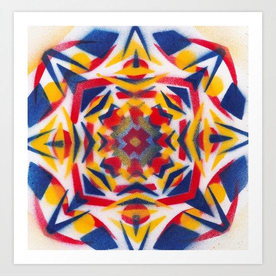 Bluestarredbox Art Print