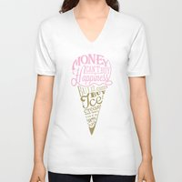philosophy V-neck T-shirts featuring Ice cream eater's philosophy by eli*