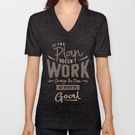 Goals - Motivational Quotes Unisex V-Neck