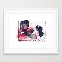 hockey Framed Art Prints featuring Hockey! by Dushan Milic