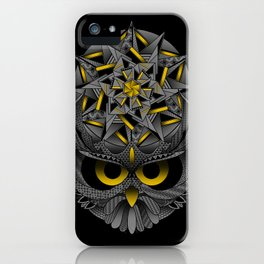 Owl Mandala iPhone Case