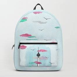 Berlin TV Tower - Yves Kervoelen - Soft watercolored view Backpack