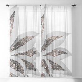 Agave Finesse Glitter Glam #1 #tropical #decor #art #society6 Sheer Curtain