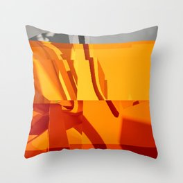 Abstract Glitch 02 Throw Pillow