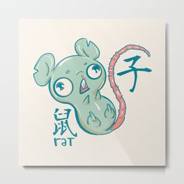 Year of the Rat Metal Print
