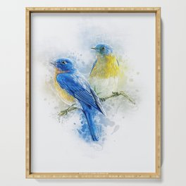 Kissing Birds Serving Tray
