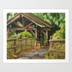 Exploring Tom Sawyers Island by Veron Ramsawak Art Print