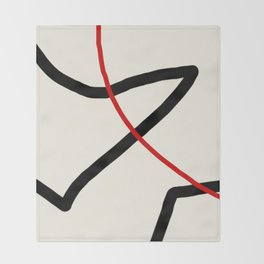 abstract minimal 46 Throw Blanket