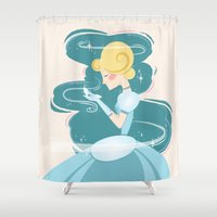 cinderella Shower Curtains featuring Cinderella by LindseyCowley