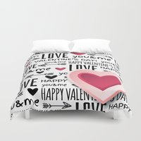 lv Duvet Covers featuring Saint Valentin Love LV by pepion