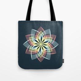 Pink Yellow Blue Yoga Love Mandala, Boho Style Tote Bag