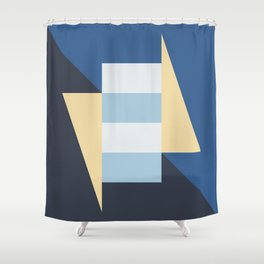 Block And Triangle #1 Abstract Color Study Shower Curtain