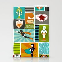 superheroes Stationery Cards featuring Superheroes! by EloisaD