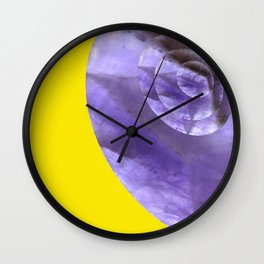 Yellow Mystical Powers of Amethyst #society6 Wall Clock