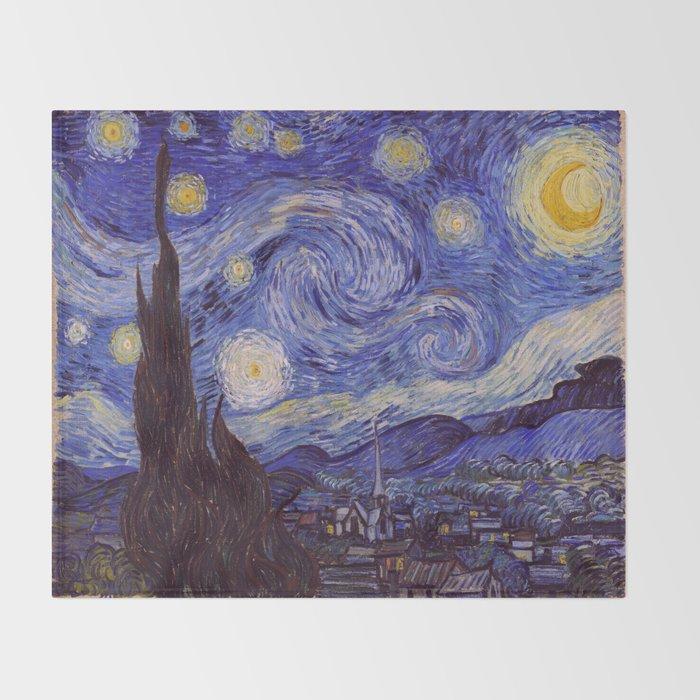 Vincent Van Gogh Starry Night Throw Blanket By Artgallery