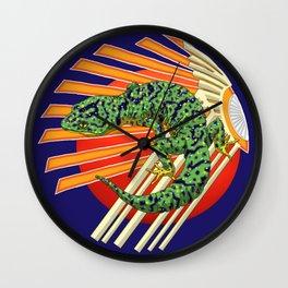 Native Japanese Gecko Wall Clock