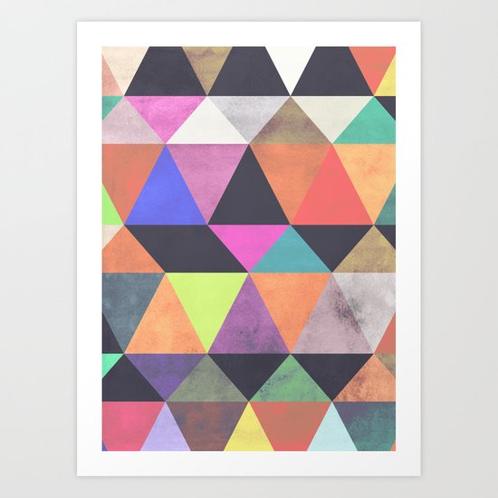 colour + pattern 12 Art Print