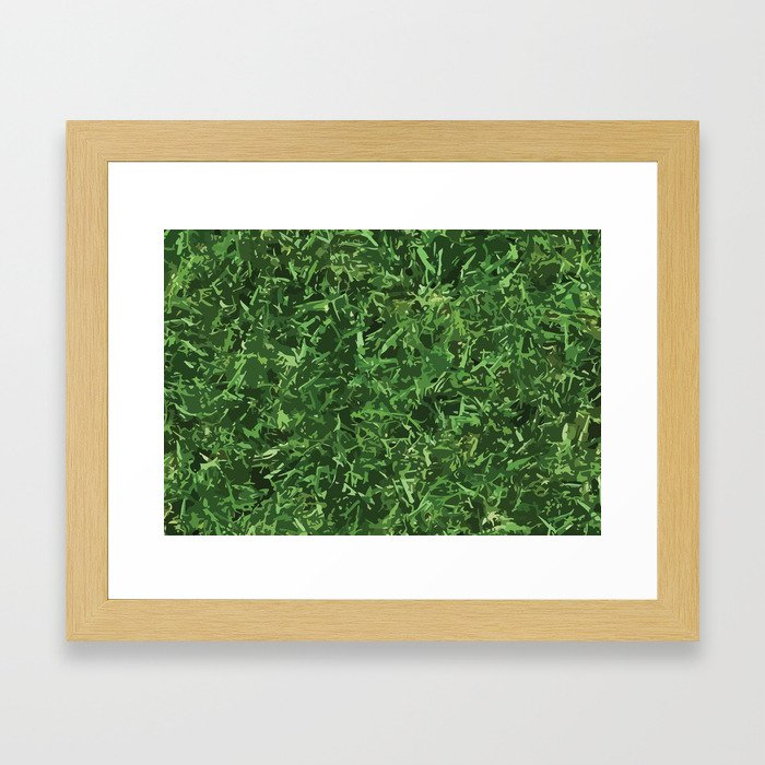Nature Grass Design Pattern Camouflage Framed Art Print