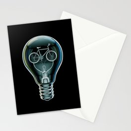Dark Bicycle Bulb Stationery Cards