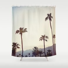 Palm Trees in the Desert Shower Curtain