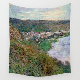 """Claude Monet """"View of Vétheuil"""", 1880 Wall Tapestry"""