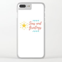 Seas and Greetings Clear iPhone Case