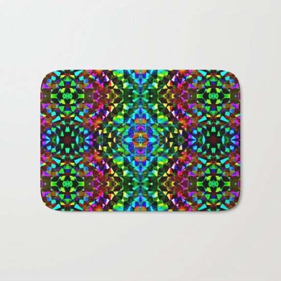 Glittering Kaleidoscope Mosaic Pattern Bath Mat
