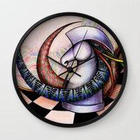 chess Wall Clocks featuring Chess by Solomiya Shevchuk