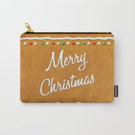 Merry Christmas Gingerbread Biscuit Carry-All Pouch