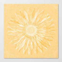 Mandala, Sunflower Prints, Yellow Canvas Print
