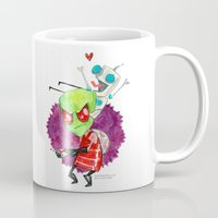invader zim Mugs featuring Invader Zim Hug by Super Group Hugs