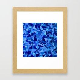 Blue tile mosaic Framed Art Print
