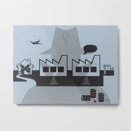Surveillance Metal Print