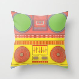 Boom Box Mania ! Throw Pillow