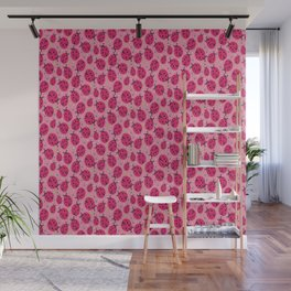 Pink Ladybugs Wall Mural