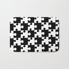 Checkerboard Puzzle Pieces Bath Mat