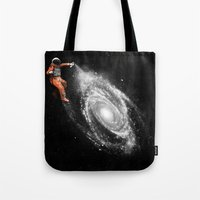 nasa Tote Bags featuring Space Art by Florent Bodart / Speakerine