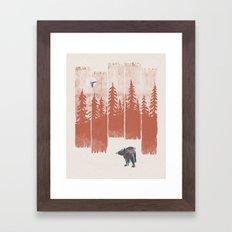 A Bear in the Wild... Framed Art Print