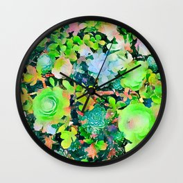The Desert Works Constantly To Forbid It, But The Cactus Blooms Anyway #painting Wall Clock