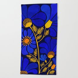 Wildflower Garden Beach Towel