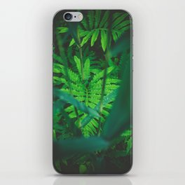 Jungle Green on a Rainy Day iPhone Skin